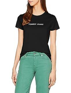 Tommy Hilfiger Retro Logo Camisa, Azul (Black Iris 002), Large para Mujer: Amazon.es: Ropa y accesorios