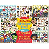 Melissa & Doug Reusable Sticker Pad: Face It! 150 Stickers and 5 Scenes