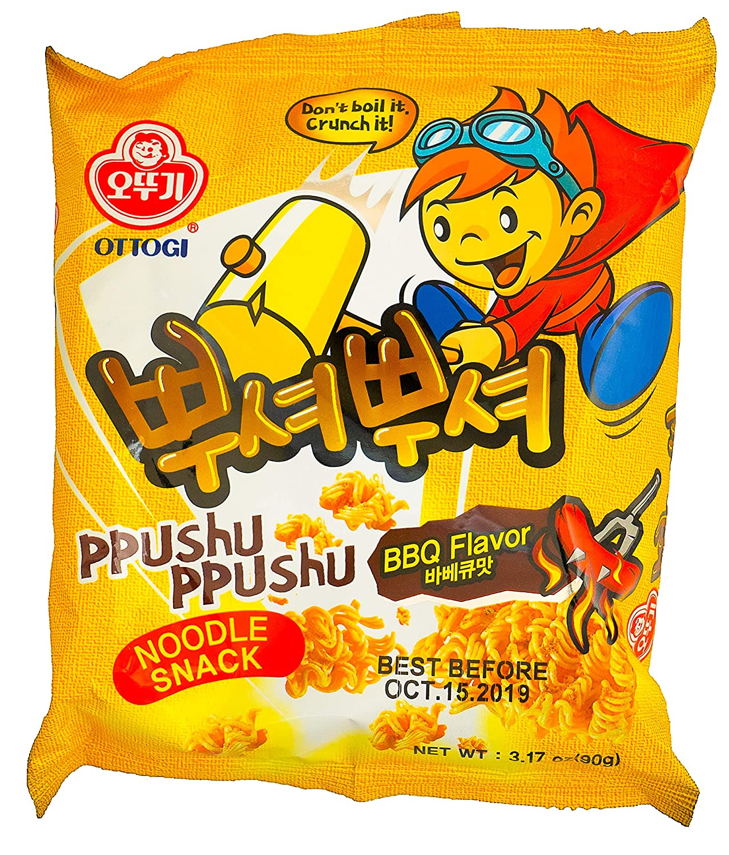 Amazon.com: Ottogi Ppushu Ppushu Noodle Snacks (BBQ)