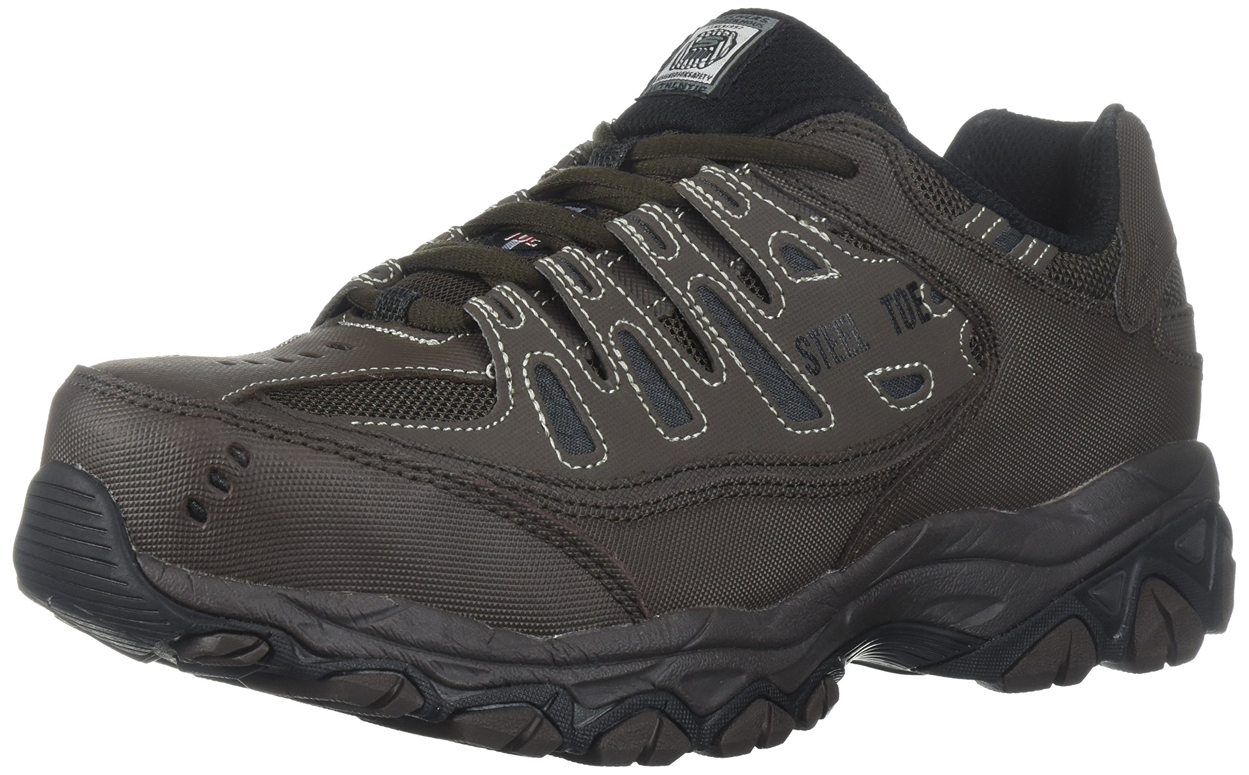 Skechers for Work Men's Cankton-U Industrial Shoe,Brown,9 2E US