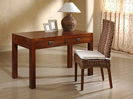 Maisonoutlet scrivania etnica linear stile coloniale moderno