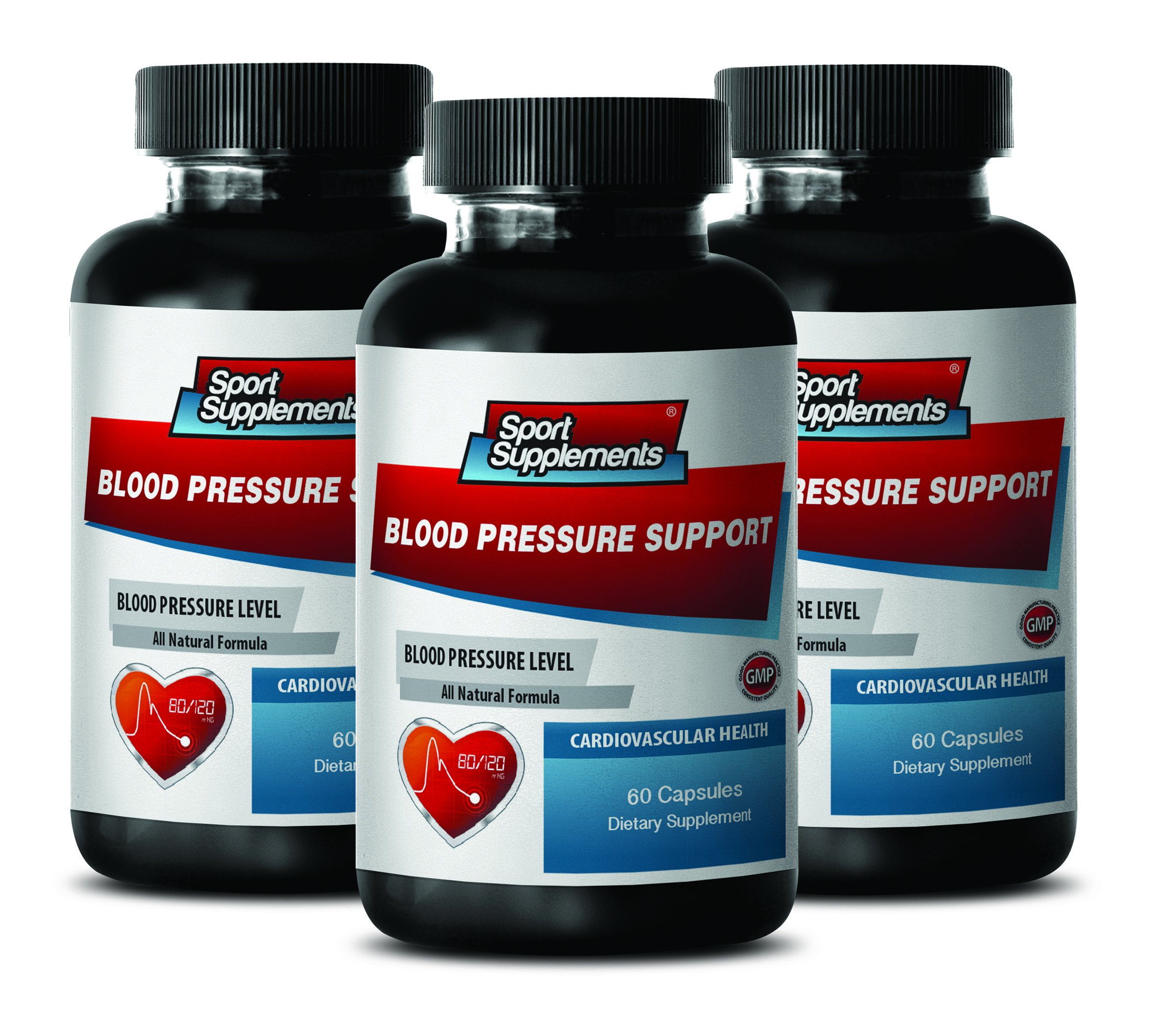 Energy Supplements for Women - Blood Pressure Support 690 MG - Cardiovascular Health - Weight Management - 3 Bottles (180 Capsules)