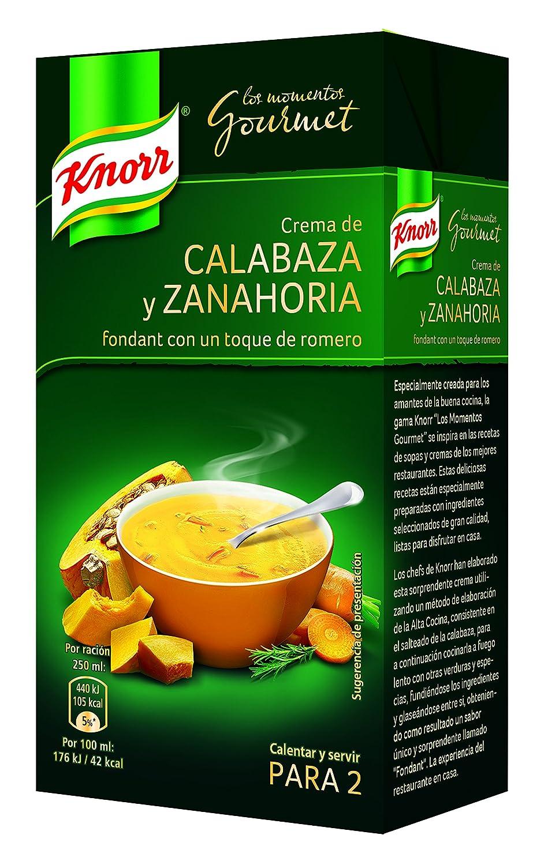 Knorr - Crema Gourmet Calabaza Fondant Zanahoria, 500 ml - [Pack de 6]: Amazon.es: Alimentación y bebidas