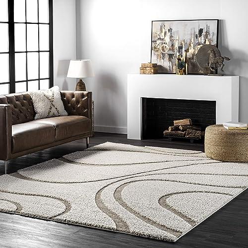 Best living room rug: nuLOOM Carolyn Cozy Soft Plush Shag Area Rug