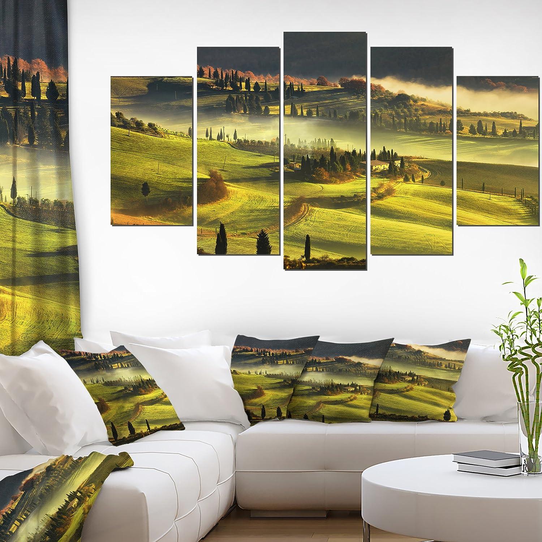 Amazon.com: Tuscany Farmland and Cypress Trees Oversized Landscape ...