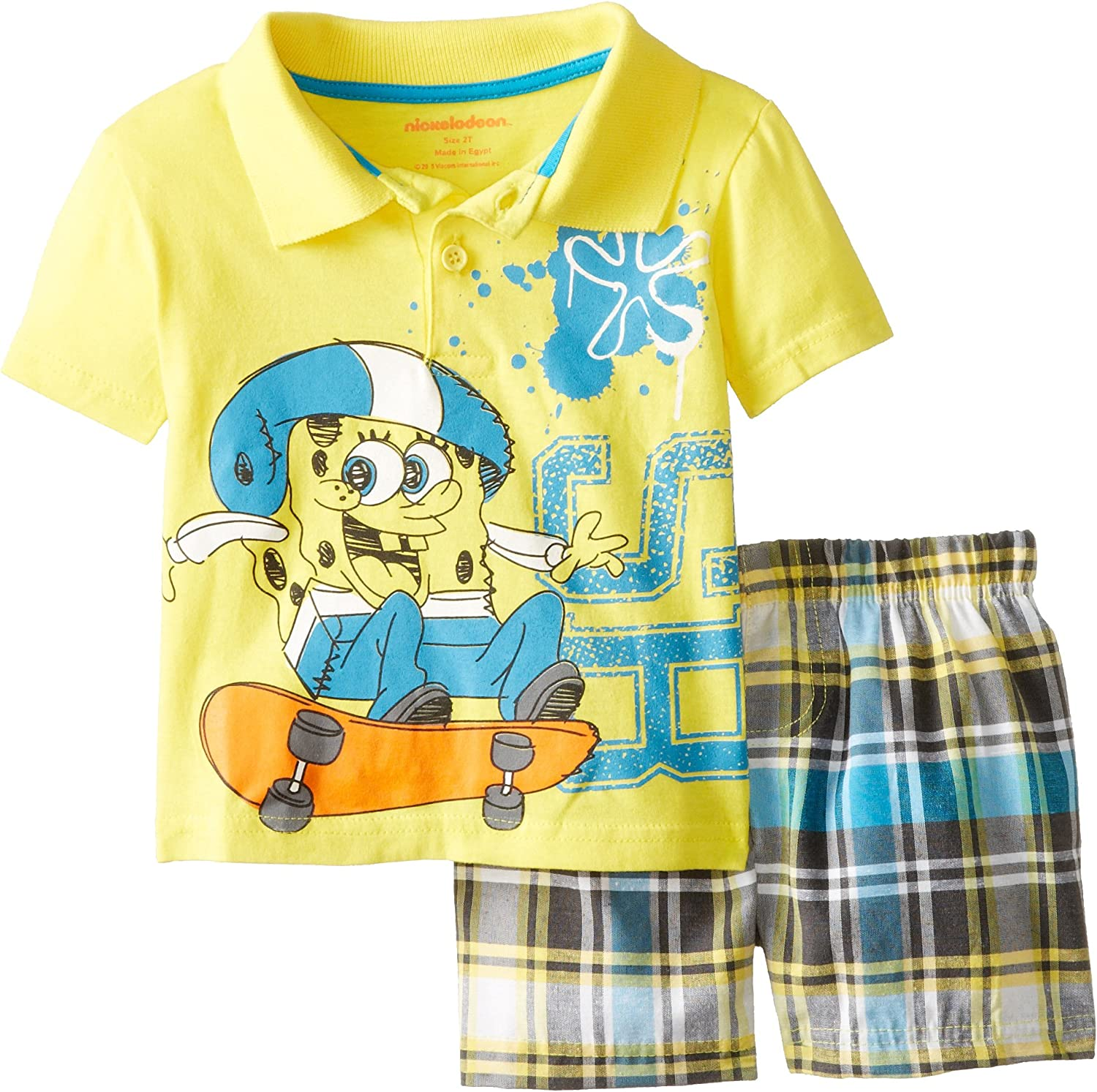 Nickelodeon Sponge Bob 3pieces Toddler Outfit Set 2T-4T