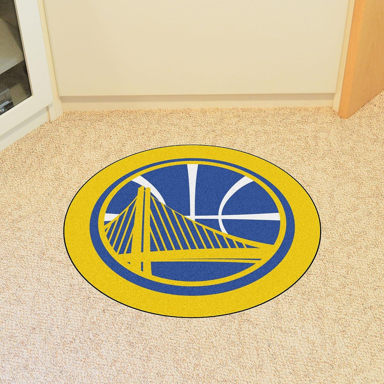FANMATS 21339 Team Color 3 x 4 NBA Golden State Warriors Mascot Mat