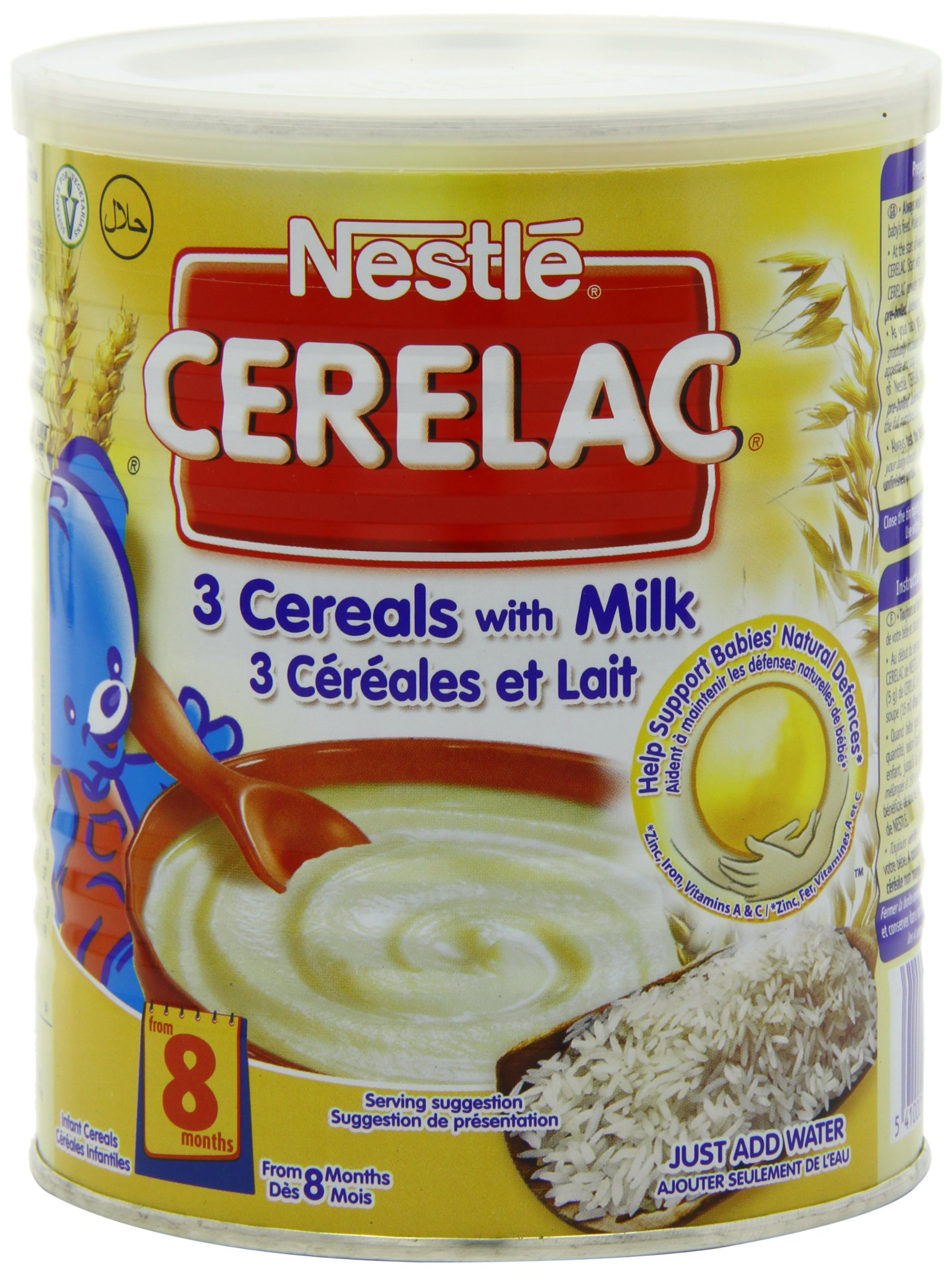 Nestle Cerelac 3 Cereals With Milk, 400 Gram Can (Pack of 4) by Nestle