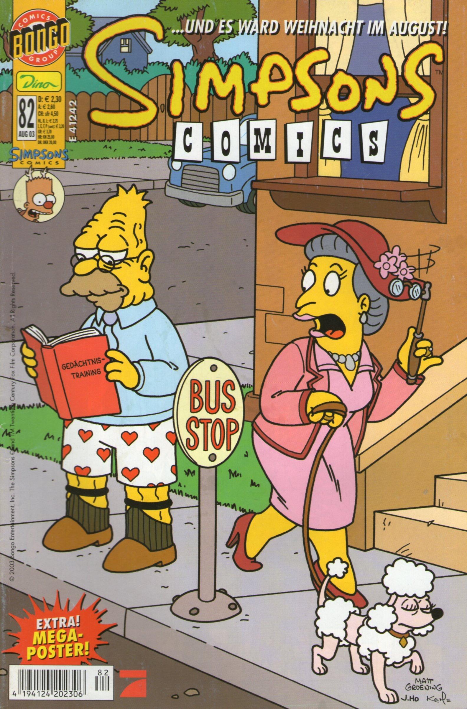 SIMPSONS Comics #82 - Exclusiver Comic mit Poster Panini 2003 (Simpsons)