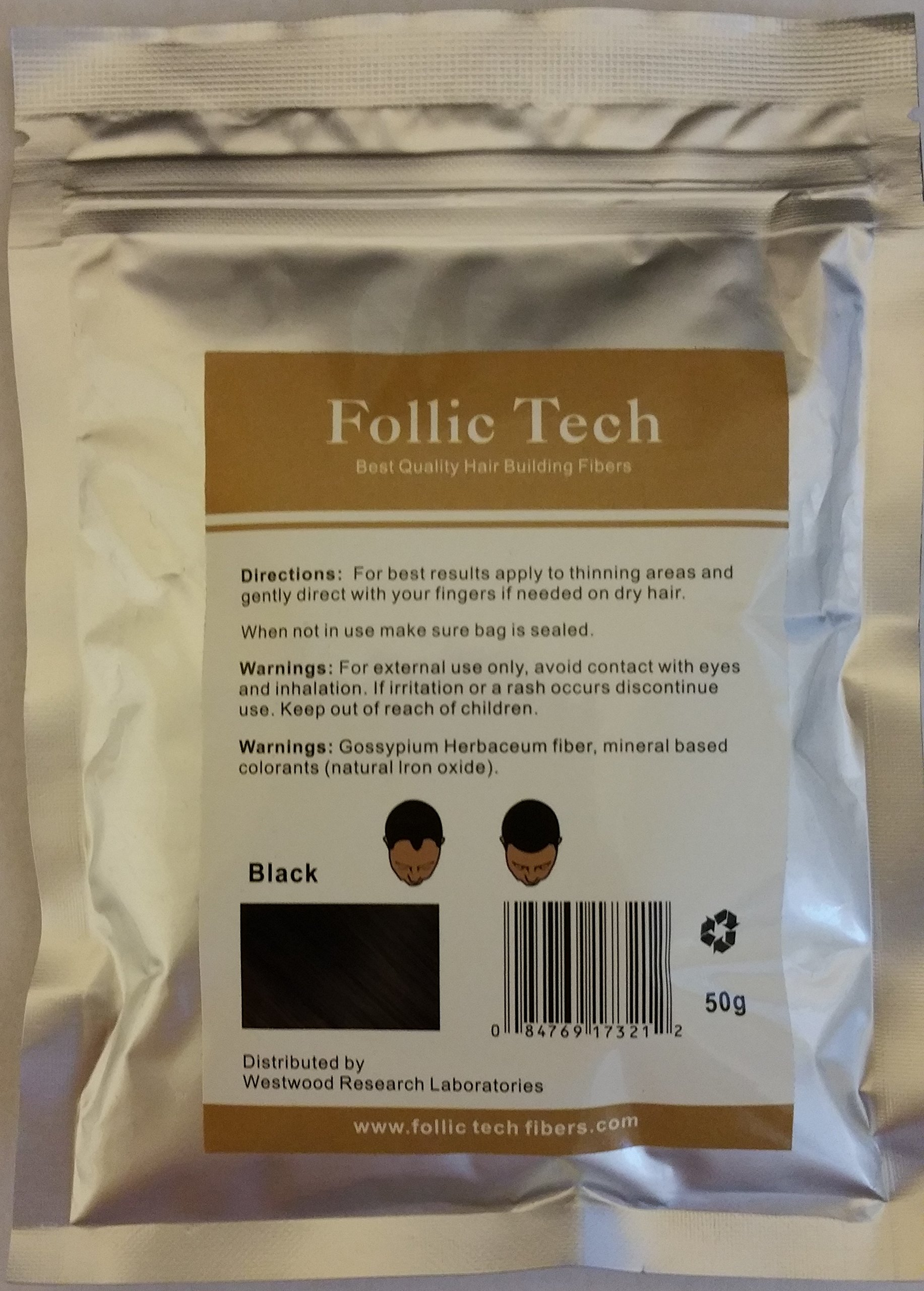 Hair Building Fibers Black 500 Grams. Highest Grade Refill That You Can Use for Your Bottles from Competitors Like Toppik, Xfusion. by Follic Tech (Image #1)