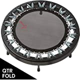 Ultimate Rebounder by ReboundAir - Foldable Exercise Trampoline for Adults - Lifetime All Parts Wrranty - Heavy Duty Fitness Trampoline - Quarter-Fold