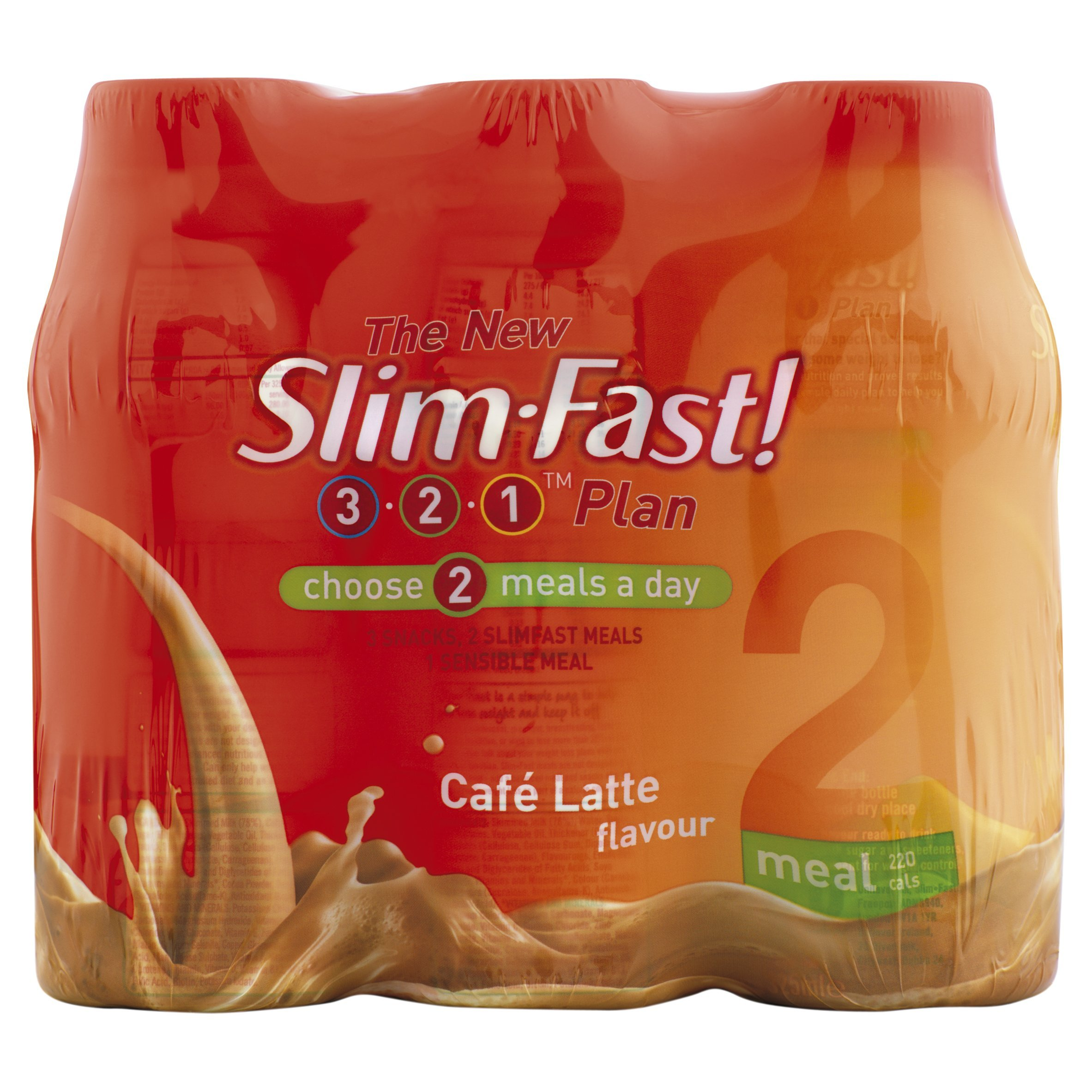Slim Fast Shake Cafe Latte 325ml - Pack of 6