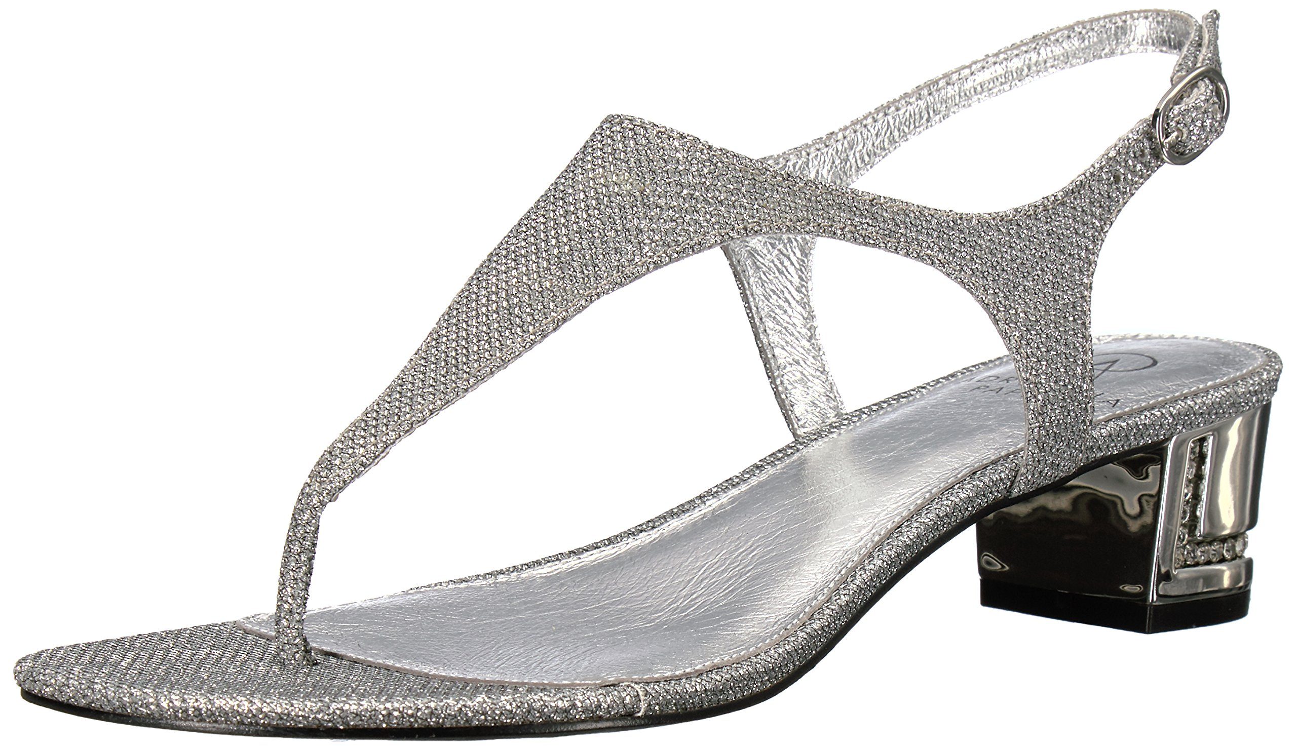 Adrianna Papell Women's Cassidy Flat Sandal, Antique Silver, 9 M US
