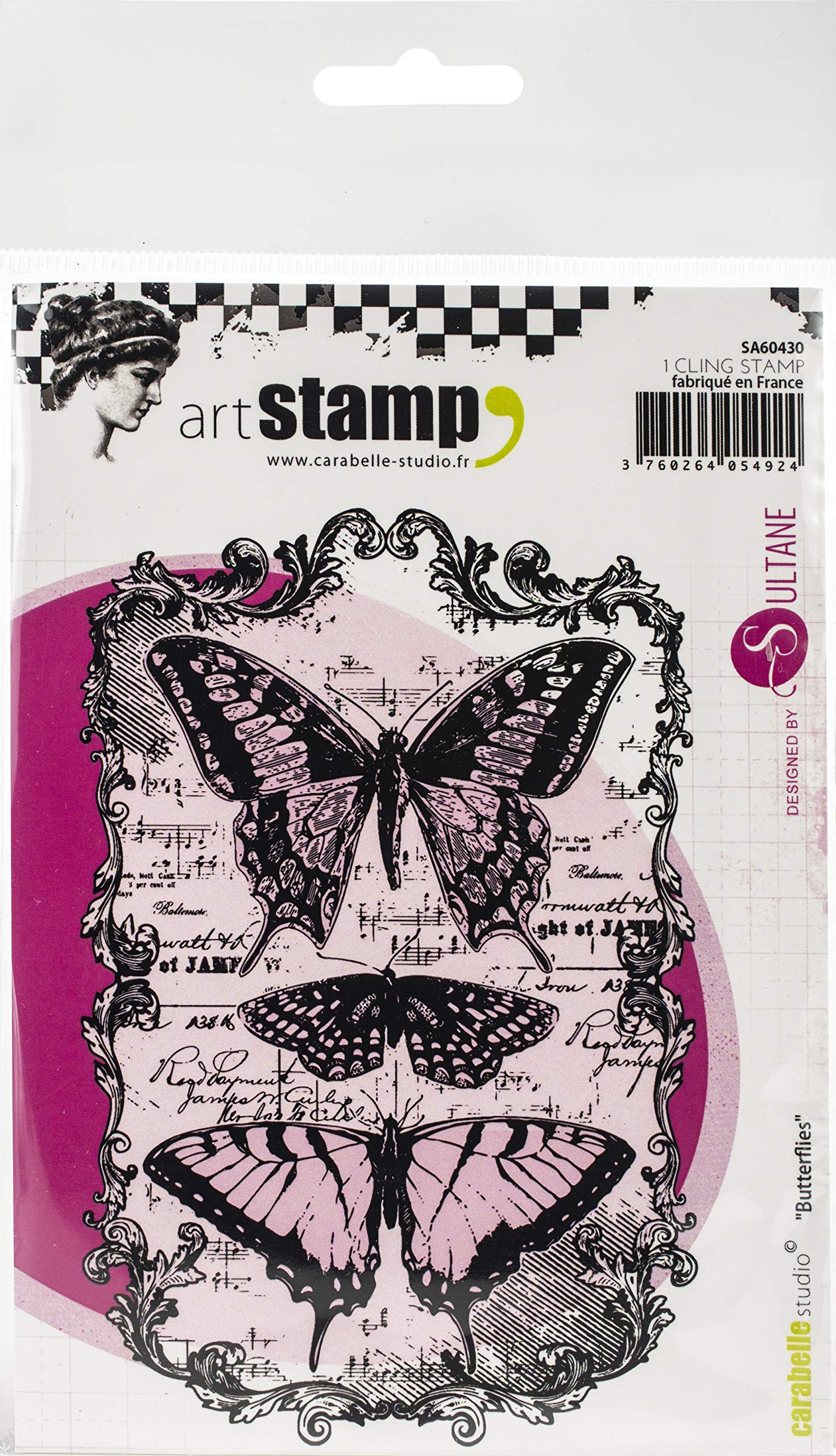 Carabelle Studios Cling Stamp A6 Butterflies, Multi-Colour, One Size