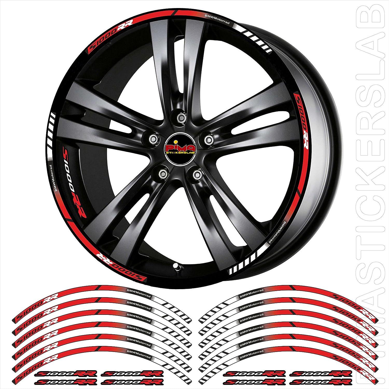 Autocollants stickers cercles moto filetage bandes roues bord Jante BMW S1000RR (Kit de 4) complet 4faces roues Cod.0651