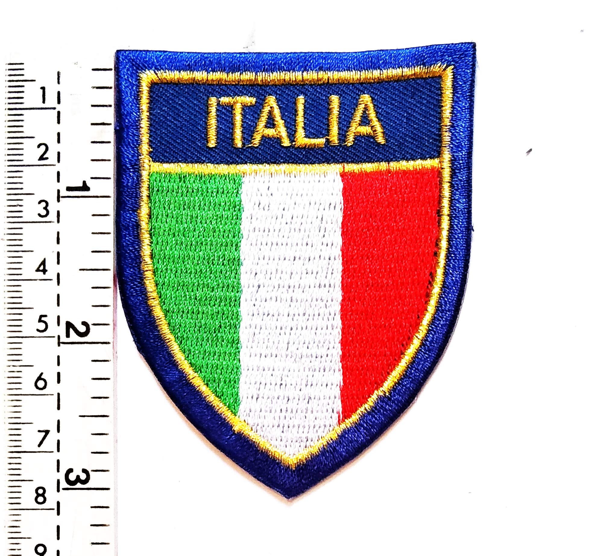 Italy National Flag Embroidered Patch Iron on Sew On Badge For Clothes Bags etc