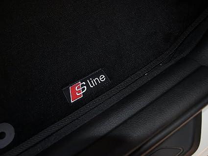Amazoncom New Car Floor Mats Black With S Line Emblem For Audi A3