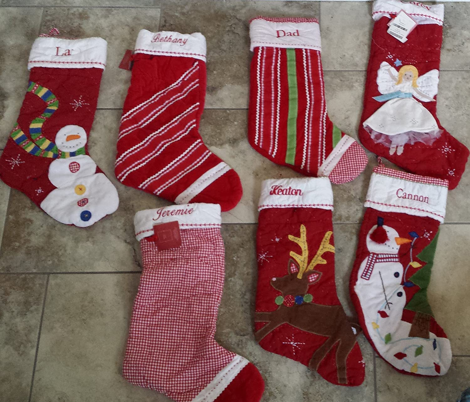 Amazon.com: New Pottery Barn Kids Quilted King Stocking-9 Patterns ... : pottery barn quilted stocking - Adamdwight.com