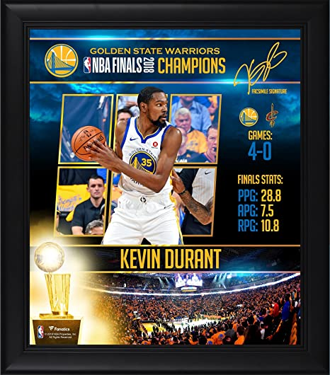 Kevin Durant Golden State Warriors Framed 15 quot  x 17 quot  2018 NBA  Finals Champions Player b06700b8c