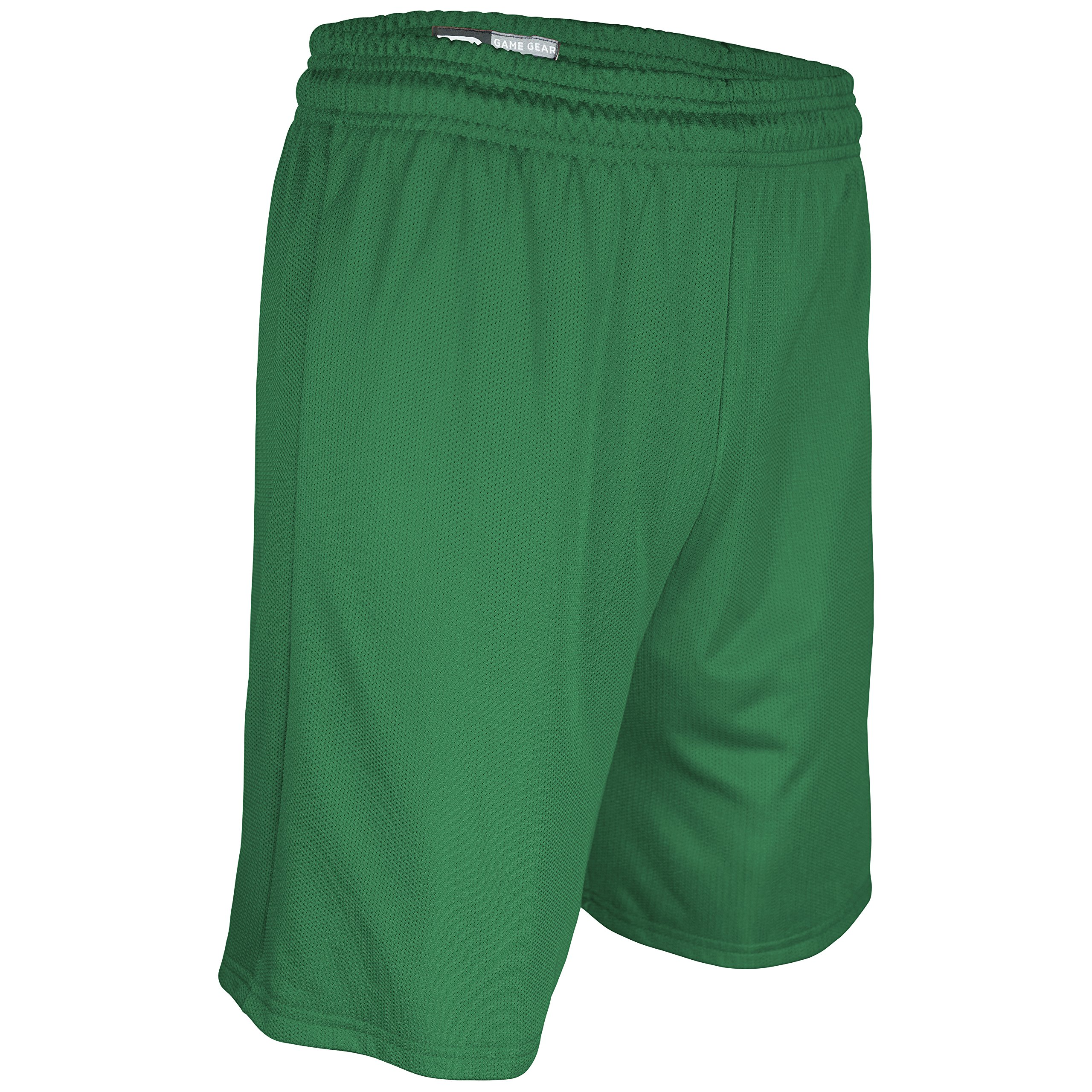 MM-6475Y-CB Youth Girl's and Boy's 5'' Solid Color Performance Micro Mesh Short (Small, Kelly)