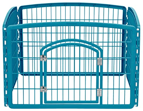 Amazon Iris 24 Exercise 4 Panel Pet Playpen With Door Blue