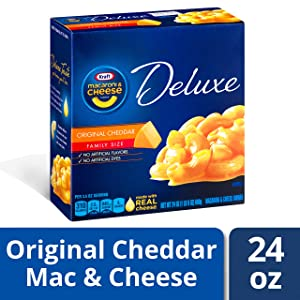 Kraft Deluxe Original Cheddar Macaroni and Cheese Dinner, 24 oz Box