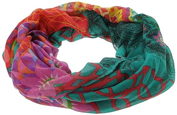 065c1e0257c Desigual - annelise - foulard tour de cou - imprimé - femme  Amazon ...