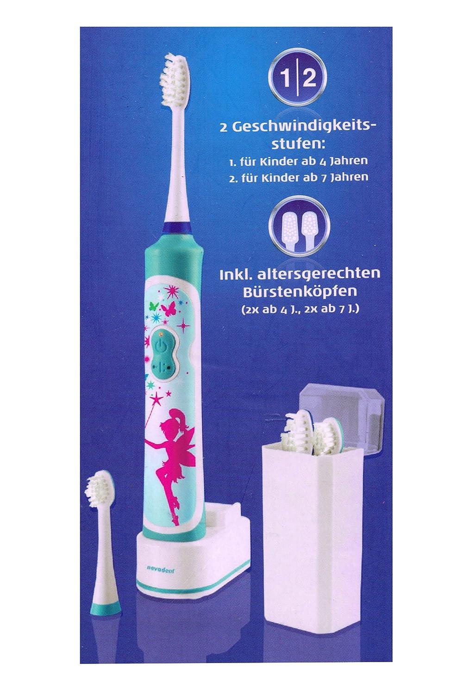 nevadent® Niños batería acústica Cepillo de dientes cepillo de dientes eléctrico nszbk 600 A1: Amazon.es: Salud y cuidado personal
