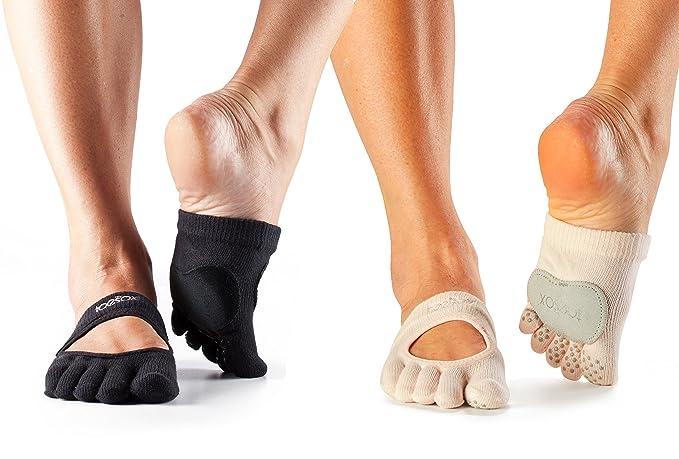 Amazon.com: Releve de dedos completos de ToeSox danza ...