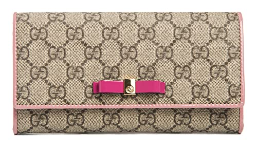 0f564de4f0b27a Image Unavailable. Image not available for. Colour: Gucci Icon Leather  Wallet Strap Camelia Camel Nude Italian Interlocking Bag New