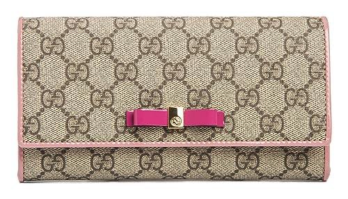 41f4ddc4096279 Gucci Icon Leather Wallet Strap Camelia Camel Nude Italian ...
