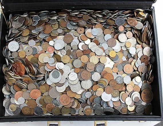 Grab bag lot different world coins mixed 100 gram