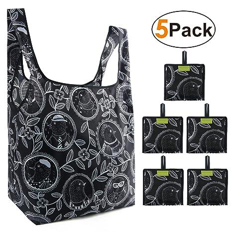 Amazon.com: Bolsas de compras reutilizables plegables ...