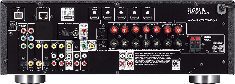 yamaha wiring diagram bose 901 to powered mixer amazon com yamaha rx v671 7 1 channel network av receiver home  amazon com yamaha rx v671 7 1 channel