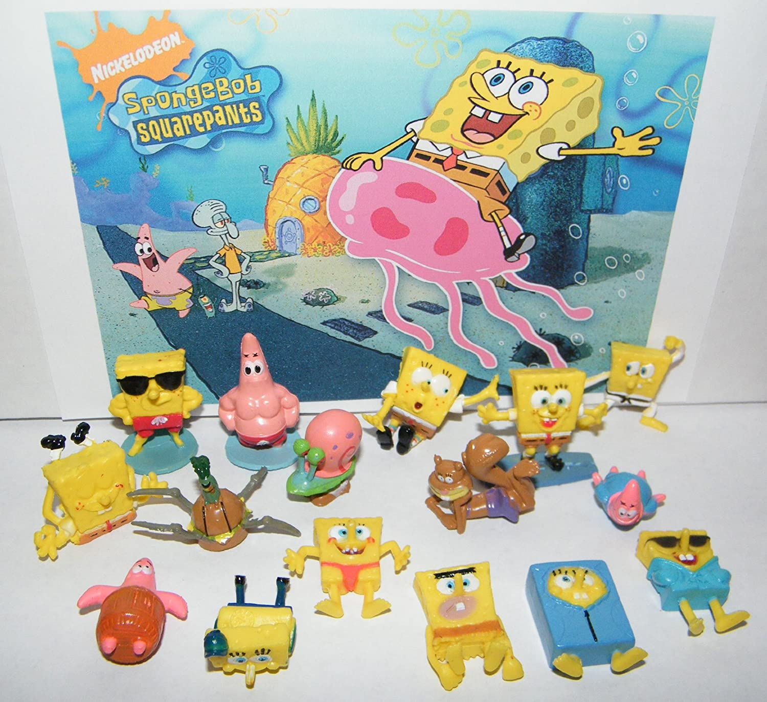 buy spongebob and friends deluxe figure set toy of 17 with patrick