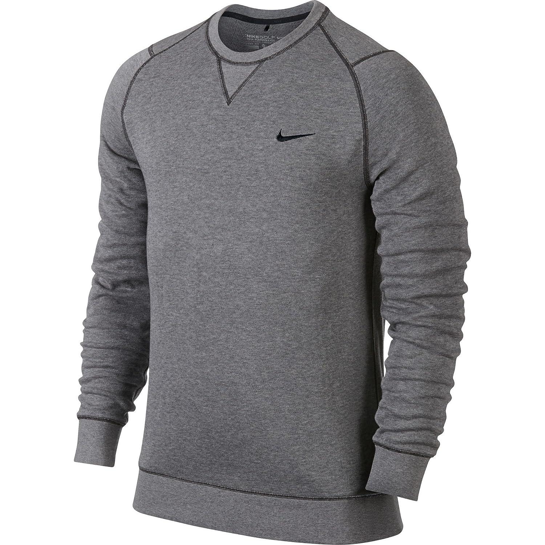 30ac9ab2479e Nike Mens Long Sleeve Range Crew Neck Sweater (2XL) (Carbon Heather Black)  at Amazon Men s Clothing store