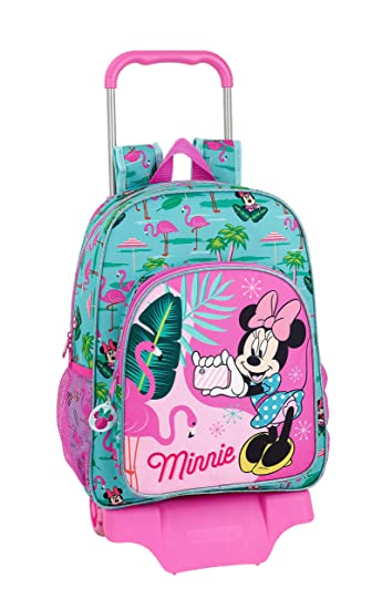 "Minnie Mouse ""Palms"" Oficial Mochila Escolar Grande Con Carro"