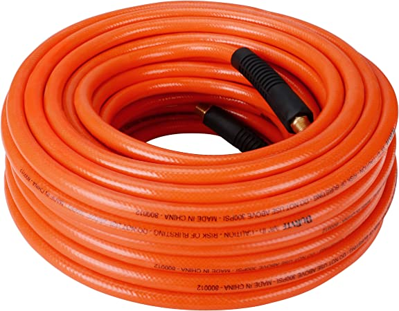 "3//8/"" x 25FT PVC Air Hose PVC Compressor Flexible Hose 300 PSI 1//4/"" NPT"