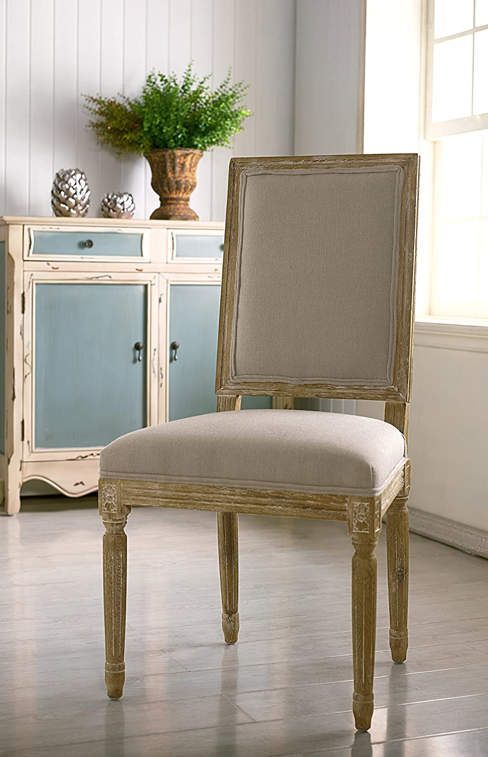 Linen French Accent Chair. French Country Furniture Finds. Because European country and French farmhouse style is easy to love. Rustic elegant charm is lovely indeed.