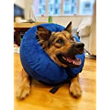 Inflatable Dog Cones After Surgery, Dog Donut Collar, Soft e Collar for Dogs, Protective and Adjustable