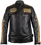 MDM Motorrad Retro Lederjacke aus echtem Leder