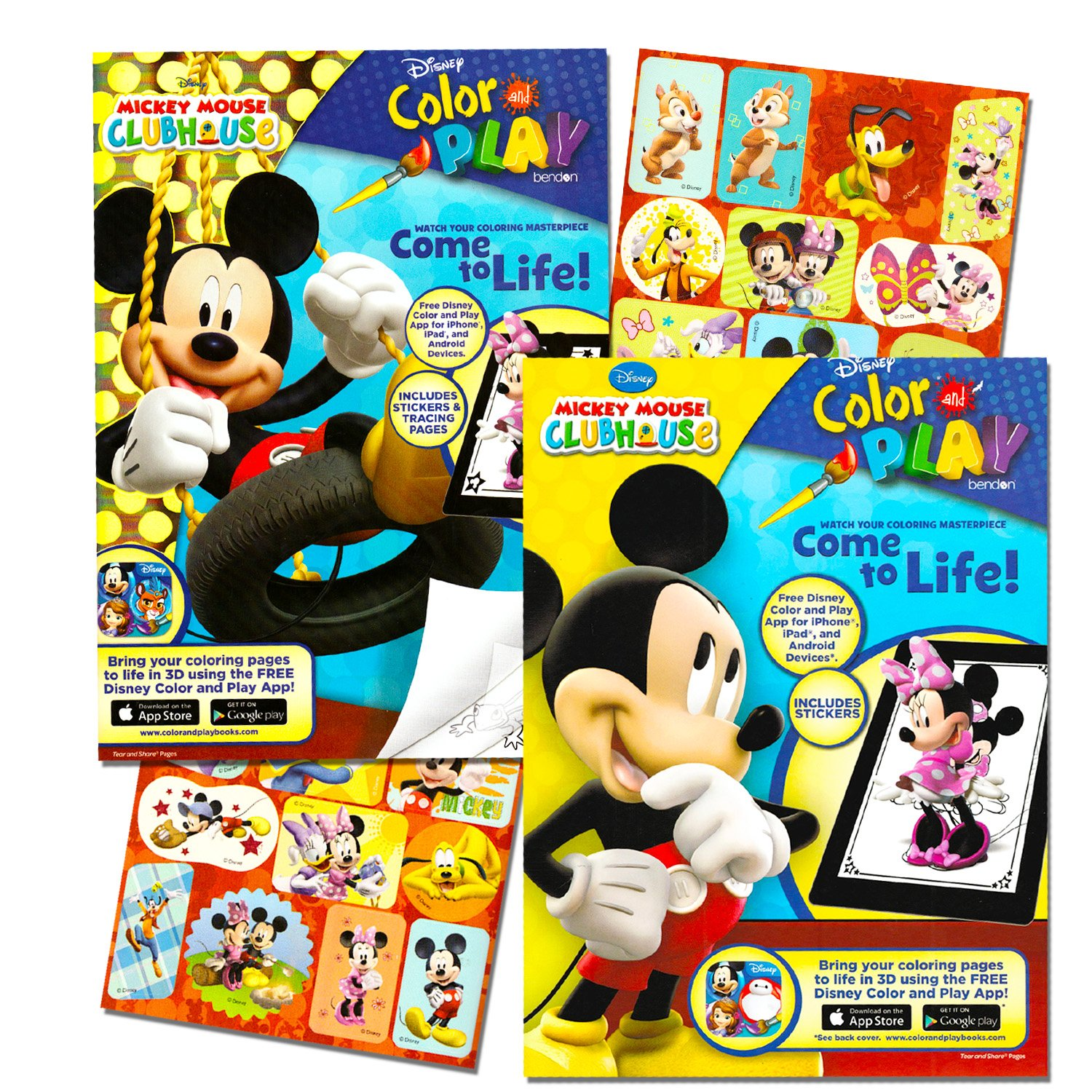 Amazon.com: Mickey Mouse Clubhouse Coloring Book Set (2 Books ...