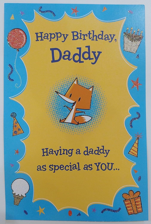Amazon Happy Birthday Daddy Greeting Card Dad Father Cute
