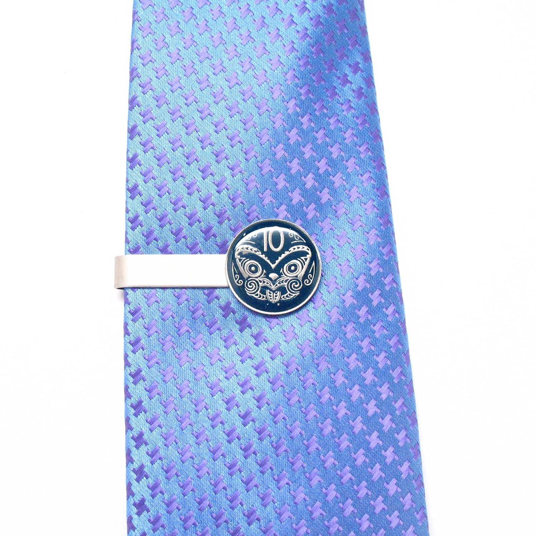 Marcos Villa New Zealand Coin Tie Bar Clip Tiebar Tieclip Polynesian Tiki Tonga Samoa Hawaii Suit