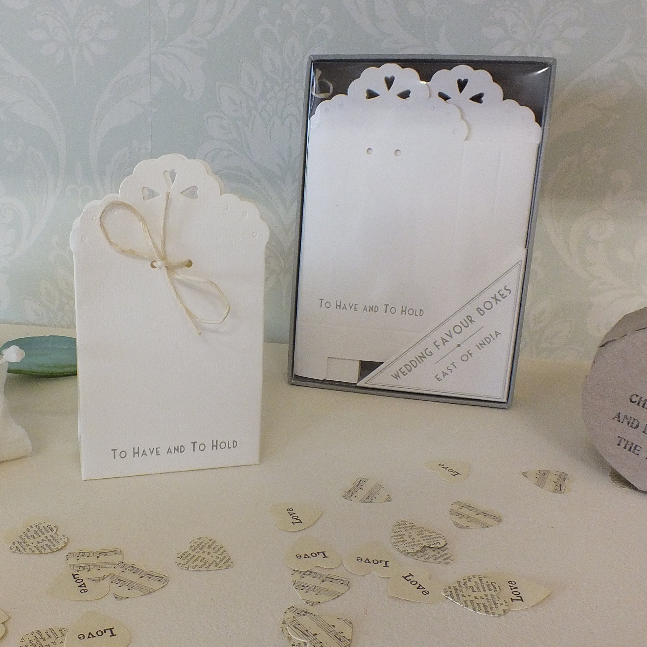 Wedding Favor Boxes - To Have And To Hold