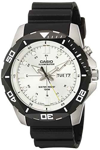 Reloj para hombre de Casio MTD-1080 - 7AVCF, pantalla digital, con iluminación superior, de cuarzo negro: Amazon.es: Relojes