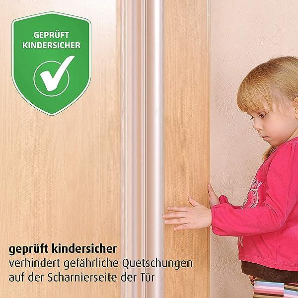 Fingerschutz Finger Alert 110°  Set 120cm transp Fingerschutzprofil Klemmschutz