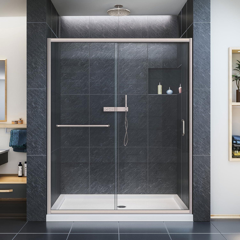 dreamline infinity z 56 60 in width frameless sliding shower