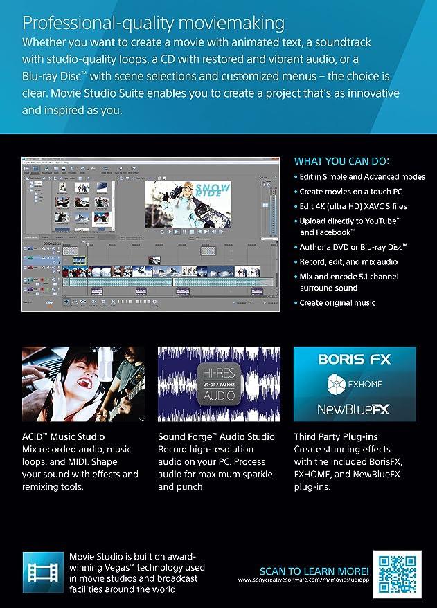 Amazon Sony Movie Studio 13 Suite OLD VERSION Software