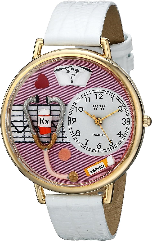 Whimsical Watches Unisex G0620047 Nurse Analog Display Japanese Quartz White Watch